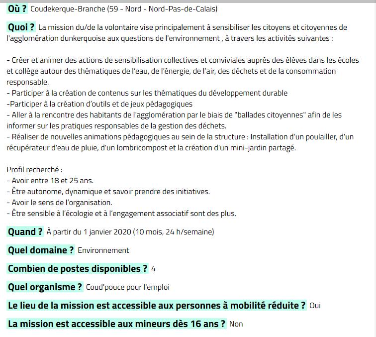 services civiques  h  f   u2013 coudekerque